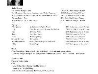 child actor resume
