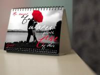 Love Letter typeface calendar