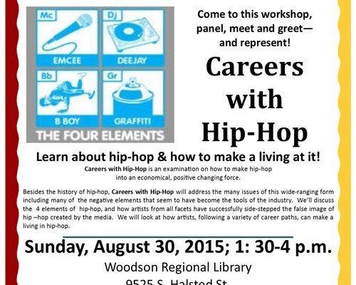 Careers With Hip-Hop-Flyer-Lecture/Workshop