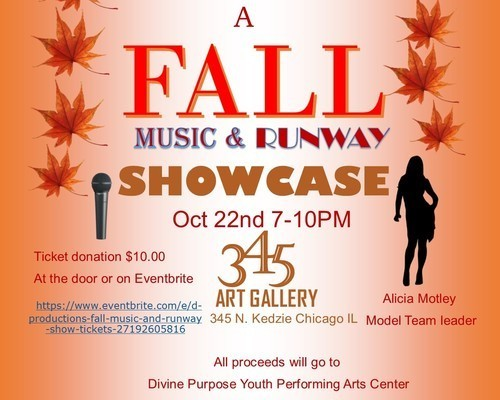 Fall Music & Runway Showcase flyer