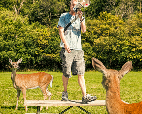 Deer Protester