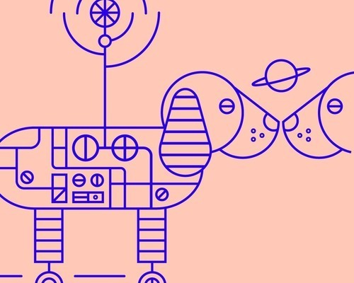 Robot Dog Illustration