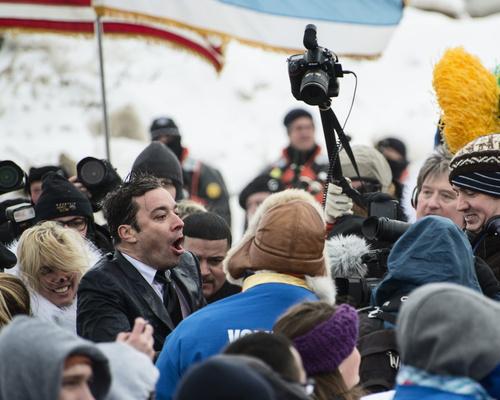 Jimmy Fallon at Chicago's Polar Plunge