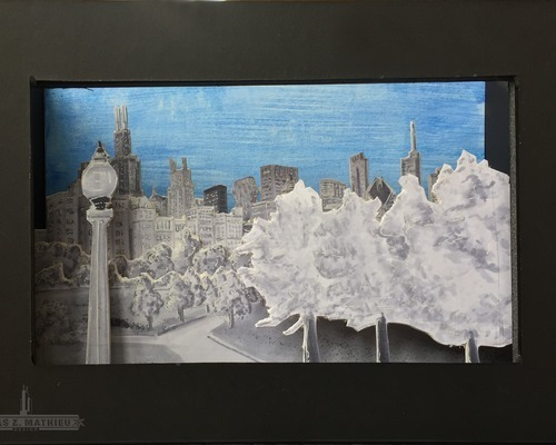 Chicago Skyline - 3D Marker Rendering