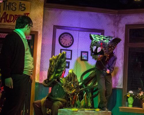 Little Shop of Horrors Set & Audrey II
