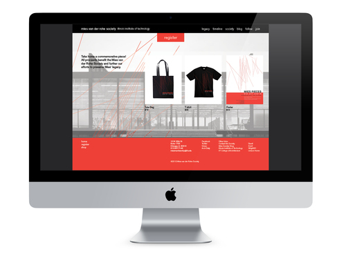 Mies Pieces Event Website Redesign