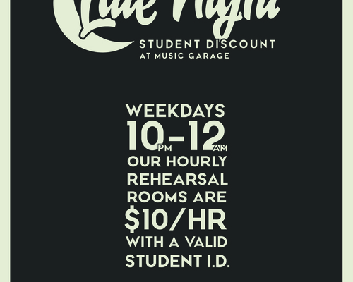 Student discount promotional poster